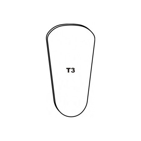 """T3"""""""" CHROME BUCCAL LARGE..."""